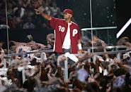 <p>Will Smith performs at the 2004 MTV Video Music Awards at the American Airlines Arena August 29, 2004 in Miami, Florida.</p>