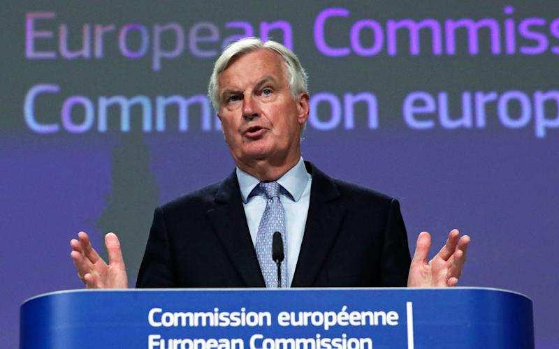 European Commission's Head of Task Force for Relations with the United Kingdom, Michel Barnier speaks during a press conference following EU - UK Brexit negotiations in Brussels, Belgium, 05 June 202 - YVES HERMAN/POOL/EPA-EFE/Shutterstock