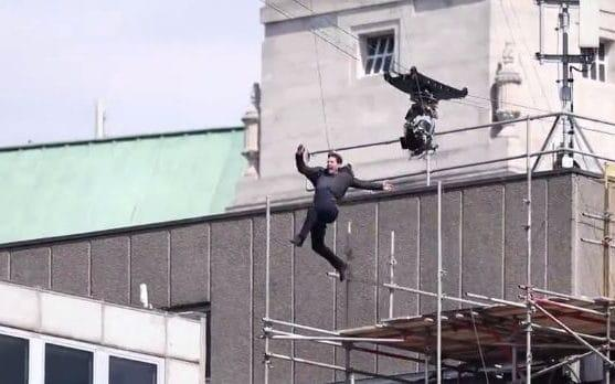 Tom Cruise, seconds before he collided with a building