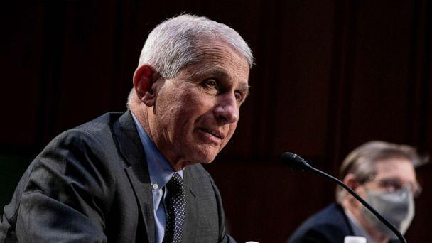 PHOTO: Dr. Anthony Fauci, Director at the National Institute Of Allergy and Infectious Diseases, speaks during a hearing with the Senate Committee on Health, Education, Labor, and Pensions, on the Covid-19 response, on March 18, 2021, in Washington, D.C. (Anna Moneymaker/Pool via Getty Images)