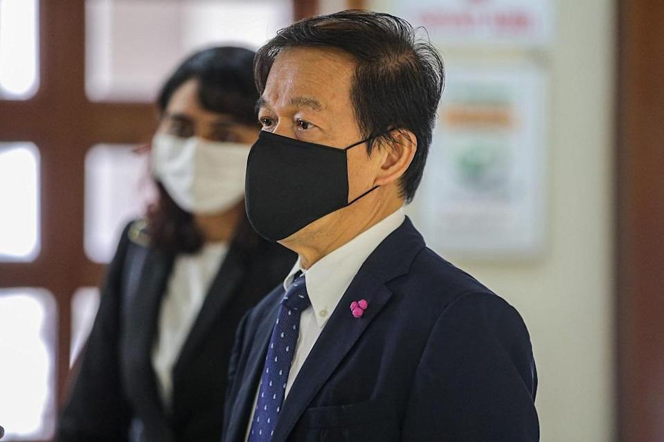 Lawyer Hisyam Teh Poh Teik is pictured at the Kuala Lumpur Court Complex August 18, 2020. ― Picture by Hari Anggara