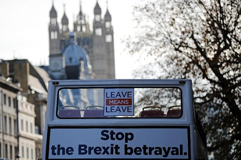 Brexit supporters say they are fed up with the drawn-out negotiations on a deal (AFP Photo/Tolga AKMEN)