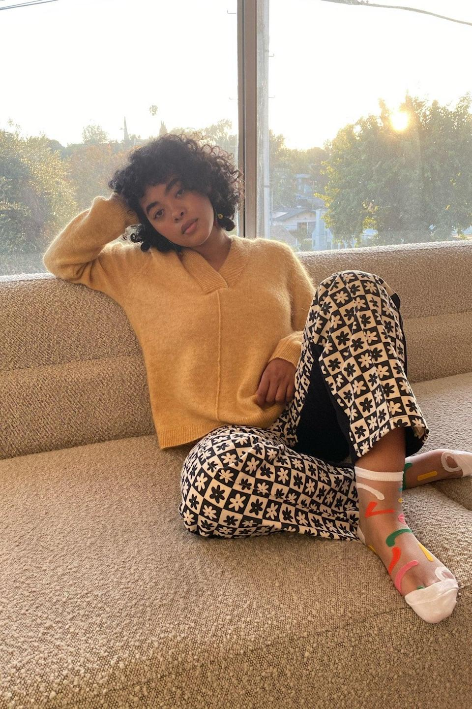 """<br><br><strong>Lisa Says Gah</strong> Chica Knit - Spruce Yellow, $, available at <a href=""""https://go.skimresources.com/?id=30283X879131&url=https%3A%2F%2Flisasaysgah.com%2Fcollections%2F30-off-tops%2Fproducts%2Fchica-knit-spruce-yellow"""" rel=""""nofollow noopener"""" target=""""_blank"""" data-ylk=""""slk:Lisa Says Gah"""" class=""""link rapid-noclick-resp"""">Lisa Says Gah</a>"""