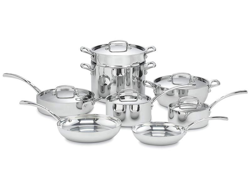 Cuisinart FCT-13 French Classic Tri-Ply Stainless 13-Piece Cookware Set. (Photo: Amazon)