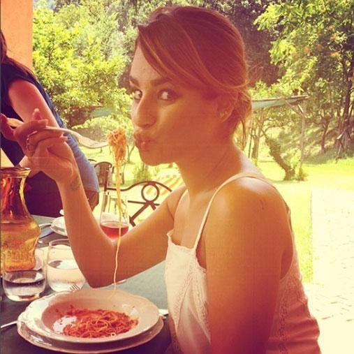 Eat pasta like Lea Michele and still have her banging body? Sure, we can do that. Photo: Instagram/msleamichele