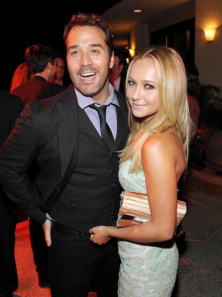 "Jeremy Piven (Ari) mingled with ""Heroes"" hottie, Hayden Panettiere. The 44-year-old actor loves the ladies! John Shearer/<a href=""http://www.wireimage.com"" target=""new"">WireImage.com</a> - July 9, 2009"