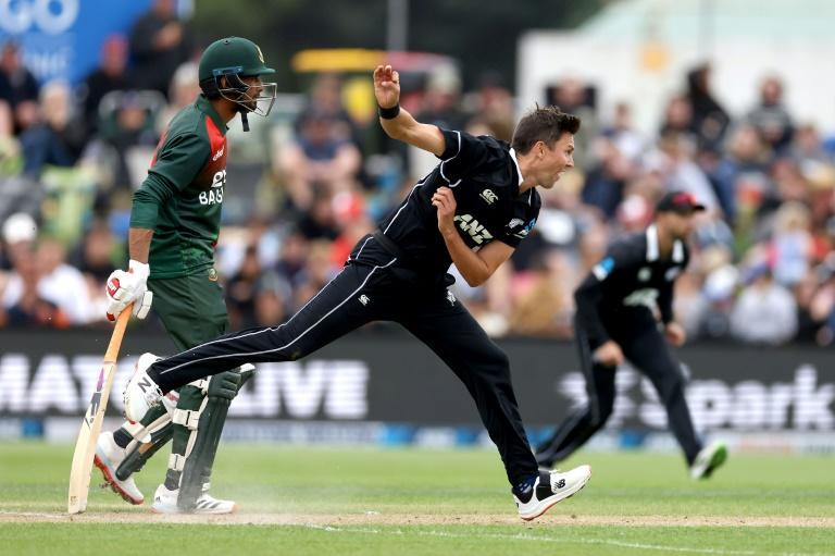 New Zealand's Trent Boult claimed four wickets for 27 runs in the opening ODI against Bangladesh in Dunedin