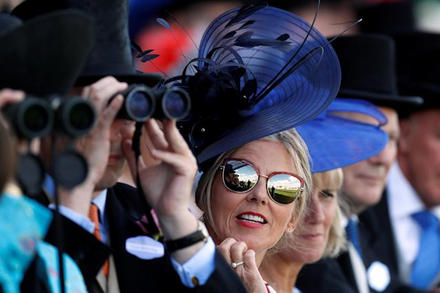 Horse Racing - Royal Ascot - Ascot Racecourse, Ascot, Britain - June 21, 2018 A racegoer looks on during the 2.30 Norfolk Stakes Action Images via Reuters/Paul Childs