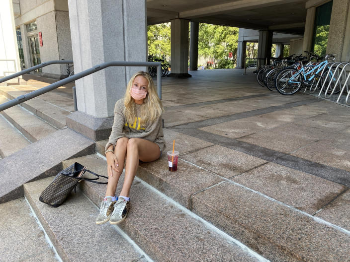 Jill Jacobson, 21, a graduate student at Northeastern University. (Ben Kesslen / NBC News)