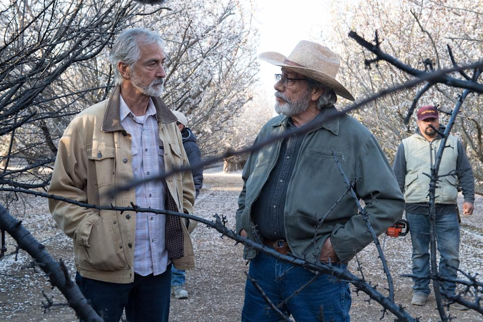 David Strathairn and Olmos in 'The Devil Has a Name' (Photo: Courtesy of Momentum Pictures)