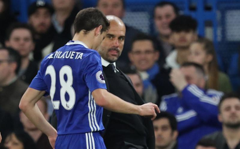 Pep decides to tackle Cesar Azpilicueta - Credit: BPI Rex