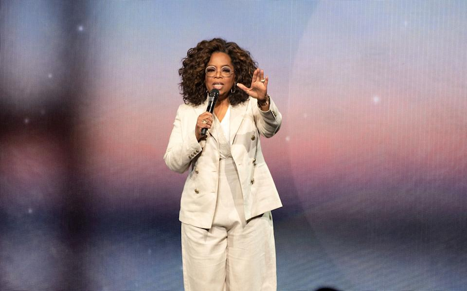 Oprah during one of her 2020 Vision: Your Life in Focus shows earlier this month (Photo: imageSPACE/MediaPunch/IPx)