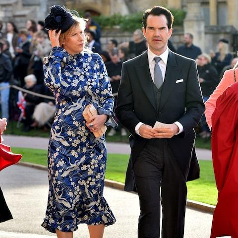 Karoline Copping and Jimmy Carr  - Credit: Getty