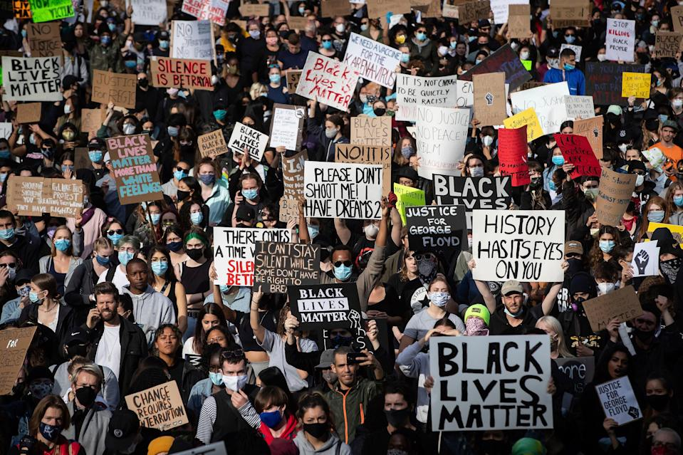 <p>A peaceful demonstration in support of George Floyd and protest against racism, injustice and police brutality</p> (AP)