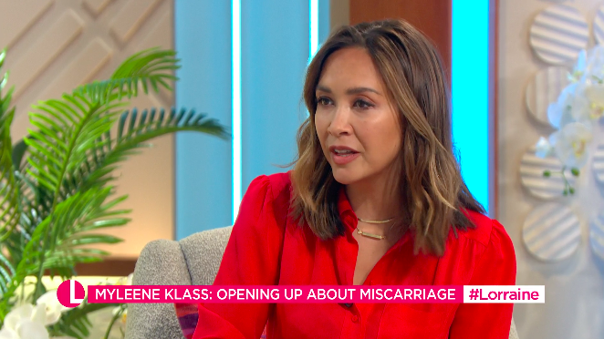 Myleene Klass spoke about mourning the loss of four pregnancies. (ITV)