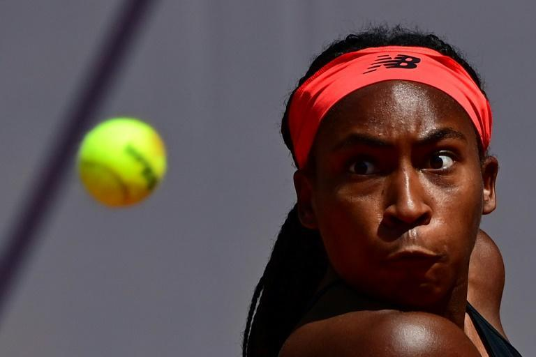 Teen dream: Coco Gauff on her way to victory over Tunisia's Ons Jabeur