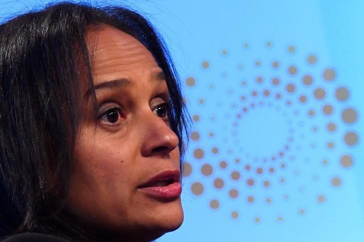 Isabel dos Santos speaks during a Reuters Newsmaker event in London