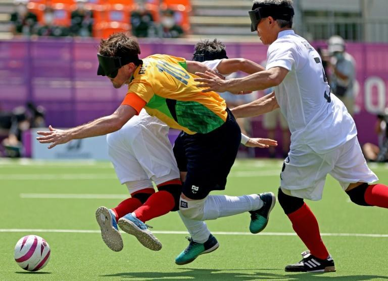 Brazil have never lost a five-a-side match at the Paralympics (AFP/Behrouz MEHRI)