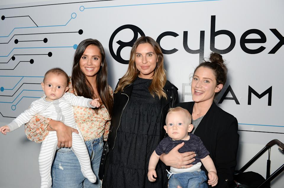 LONDON, ENGLAND - JUNE 18: Tyla Carr, Jess Shears and Katie Waissel attend the UK launch of the world's first electronic stroller, ePRIAM by Cybex on June 18, 2019 in London, England. (Photo by Nicky J Sims/Getty Images for Cybex)
