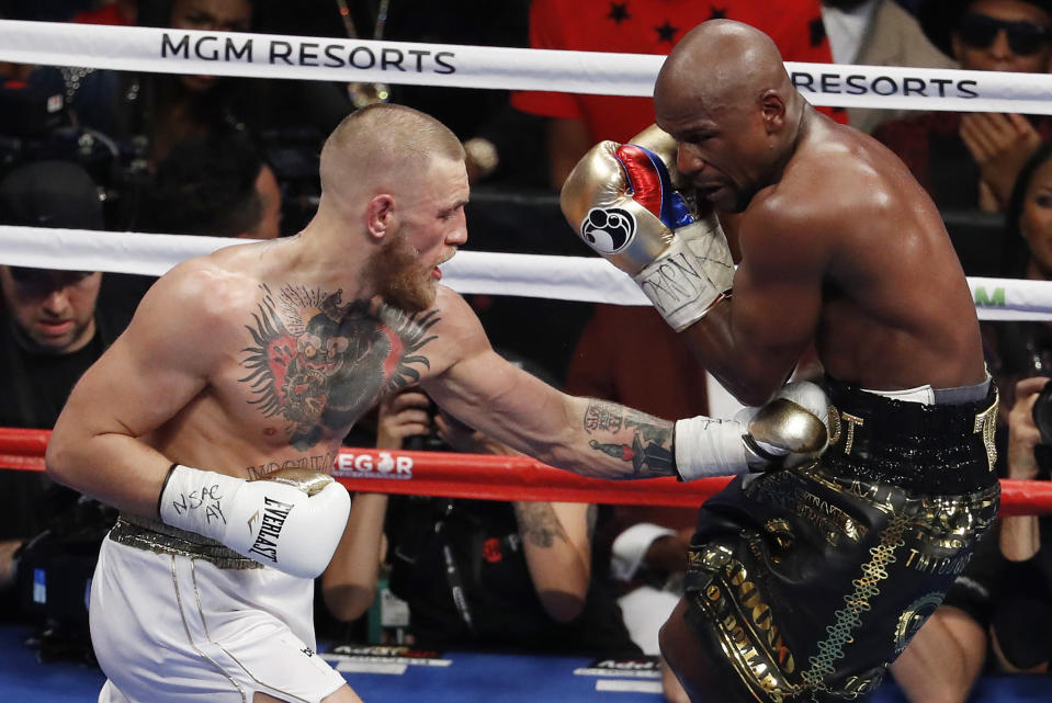 Conor McGregor vs. Floyd Mayweather sold 4.4 million pay-per-views, according to Showtime. (Getty)