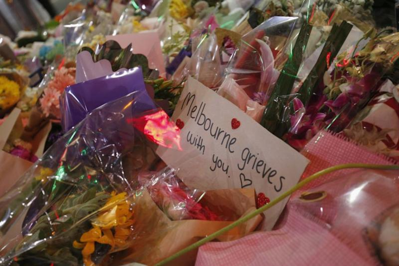 Many Victorians have laid floral tributes at Bourke Street at the scene of the rampage. Photo: Getty Images