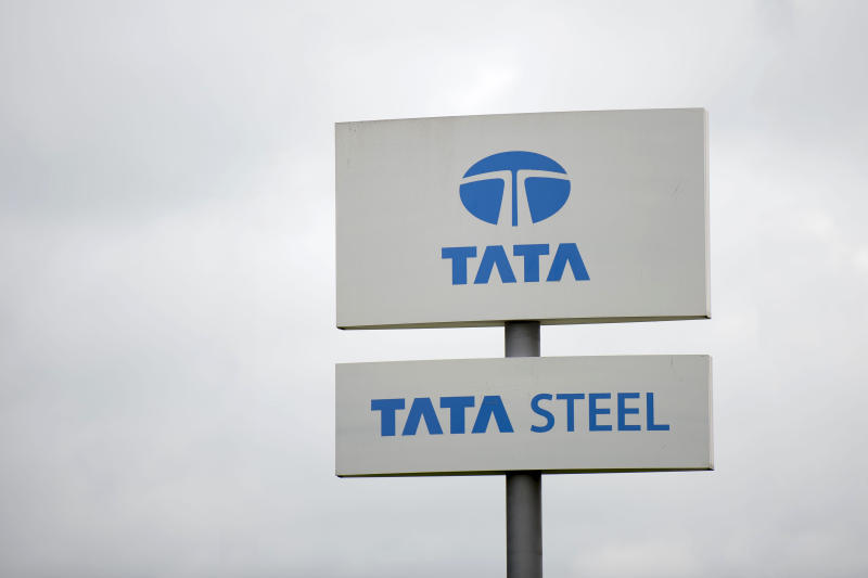 NEWPORT, UNITED KINGDOM - MAY 22: A Tata Steel steelworks sign seen at Tata Steel's Llanwern steelworks on May 22, 2016 in Newport, United Kingdom. (Photo by Matthew Horwood/Getty Images)