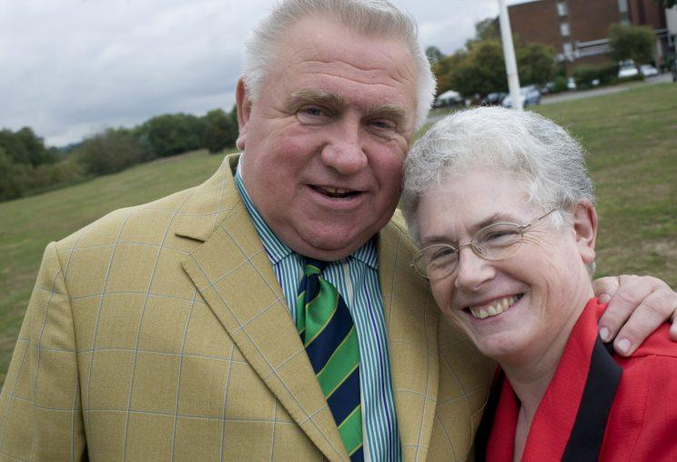 Fergus Wilson and his wife Judith, with whom he runs his business