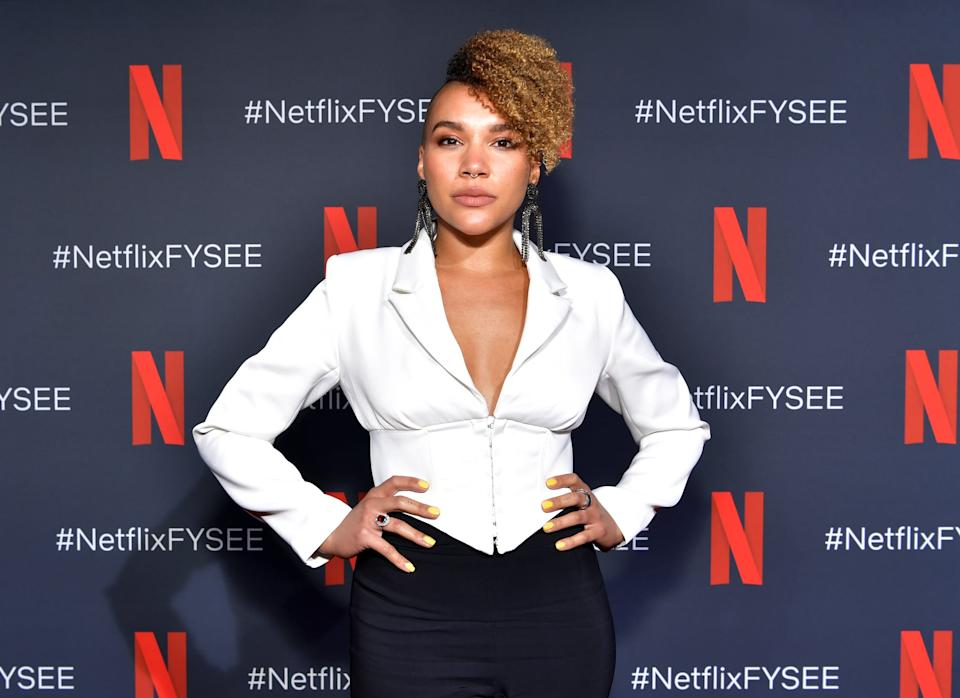 LOS ANGELES, CALIFORNIA - MAY 11: Emmy Raver-Lampman attends Netflix's 'Umbrella Academy' Screening at Raleigh Studios on May 11, 2019 in Los Angeles, California. (Photo by Emma McIntyre/Getty Images for Netflix)