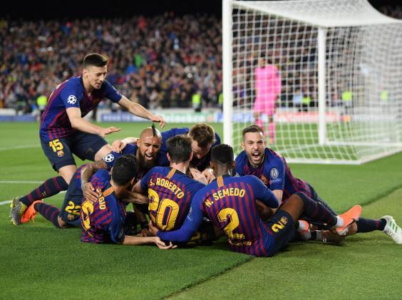 Barcelona swept to victory in the first leg (Getty)
