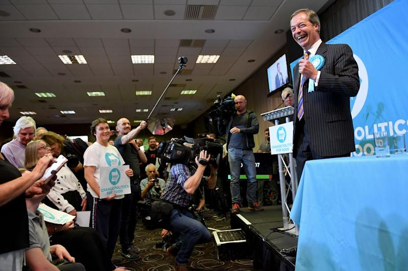 The Tories are facing an extremely difficult Euro election night after the Brexit Party stormed into the lead in the polls (Getty)