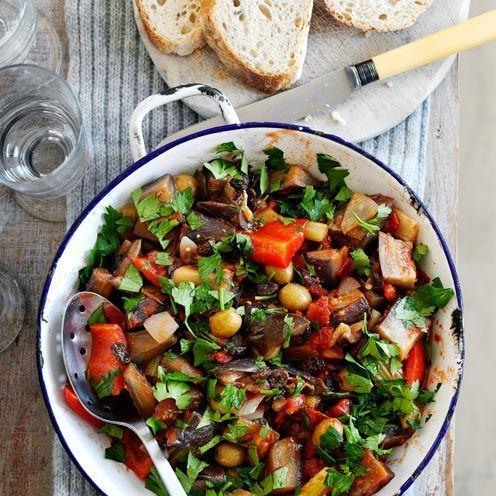"""<p>Aubergines take a little longer to cook than you might think, so make sure they are succulently soft before serving this vegetarian dish.</p><p><strong>Recipe: <a href=""""https://www.goodhousekeeping.com/uk/food/recipes/a535150/rich-aubergine-stew/"""" rel=""""nofollow noopener"""" target=""""_blank"""" data-ylk=""""slk:Rich aubergine stew"""" class=""""link rapid-noclick-resp"""">Rich aubergine stew</a></strong></p>"""