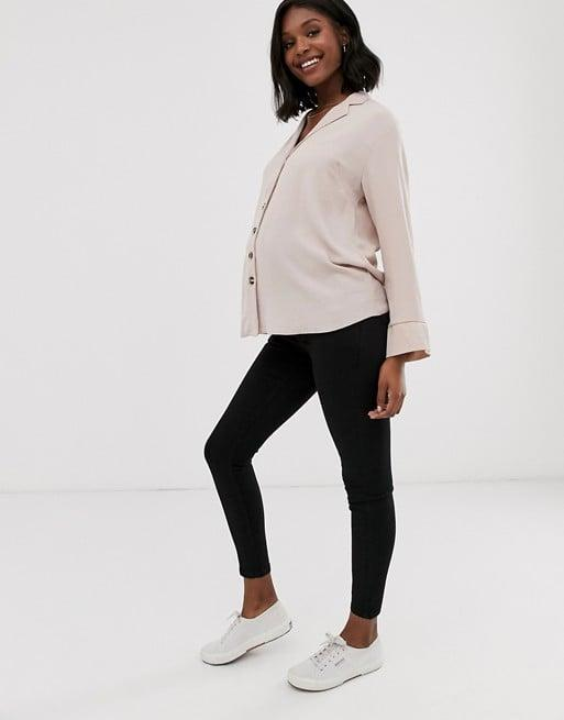 """<p>""""These <span>ASOS Design Maternity Ridley High Waisted Skinny Jeans</span> ($35) are legit the only jeans I can wear all day now without wanting to die. Not to be dramatic or anything."""" - GC</p>"""