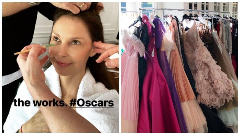 <p>Stars getting ready for Oscars 2018</p>
