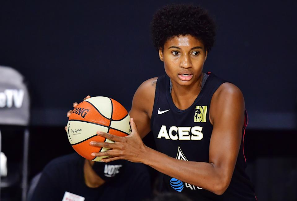 Angel McCoughtry of the Las Vegas Aces