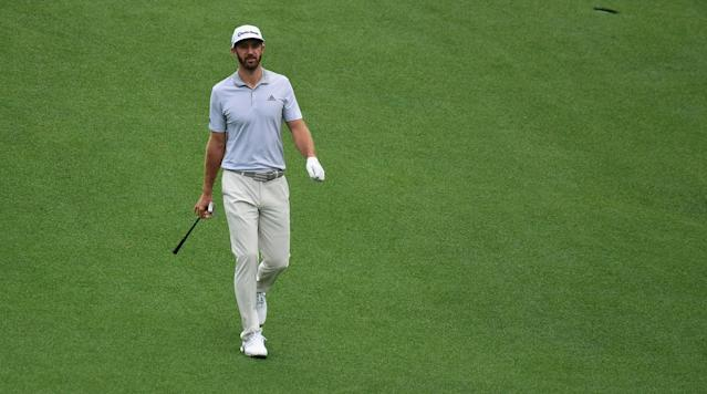 """UPDATE: Dustin Johnson's trainer, Joey Diovisalvi, told Tim Rosaforte of Golf Digest on Thursday morning that Johnson is """"up and moving around and definitely going in the right direction."""