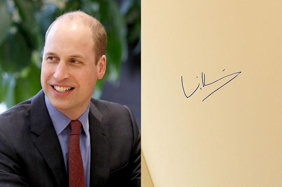 <p>William has perhaps the most stylized, least legible signature in the royal family.</p>