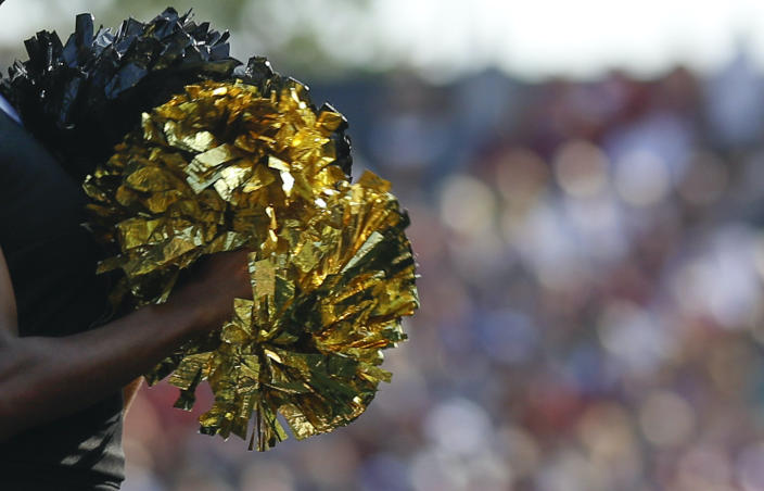 A cheerleader kicked off the Ottawa University cheer team said the team's coach went on a racist rant against her because of her hair. (Photo by Jamie Gilliam/Icon Sportswire via Getty Images)