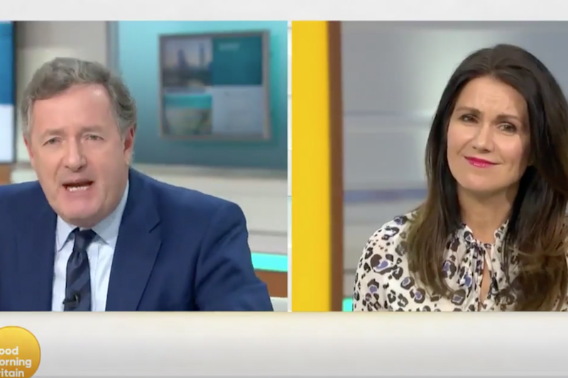 The presenter airs his opinion to co-host Suzannah Reid: GMB