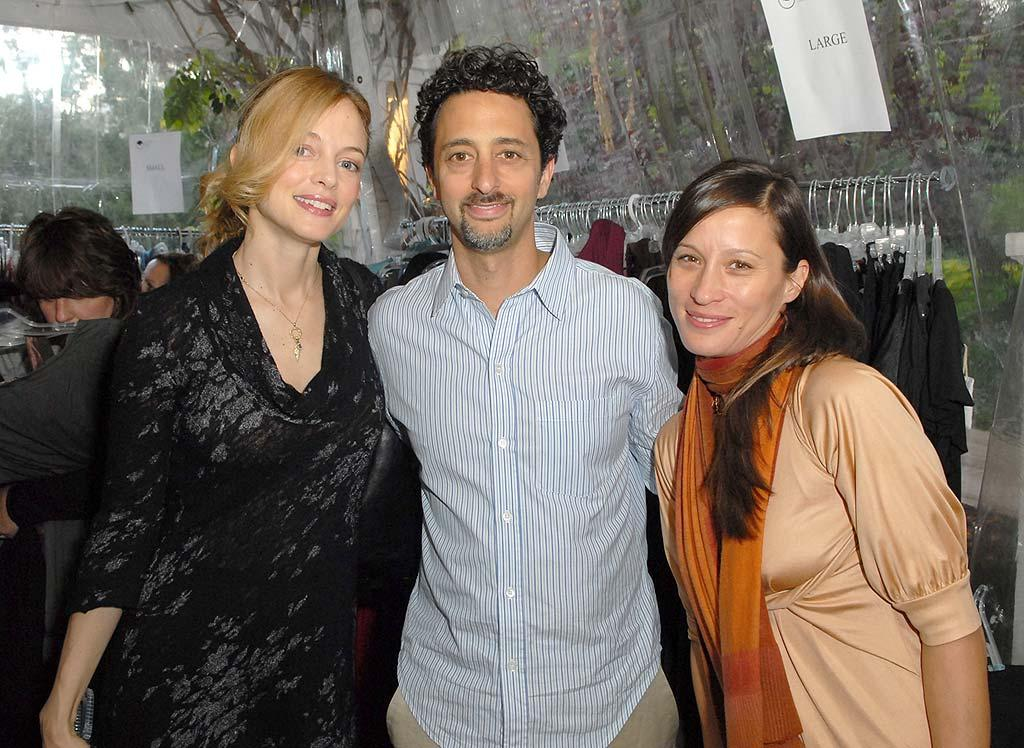 """Screewriter/producer Grant Heslov poses with Heather Graham and Michelle Jonas. Heslov collaborated on """"Good Night, and Good Luck"""" with George Clooney. Clooney is extremely active in advocating a resolution of the Darfur conflict, even narrating the documentary """"Darfur Now."""" Michael Caulfield/<a href=""""http://www.wireimage.com"""" target=""""new"""">WireImage.com</a> - December 8, 2007"""