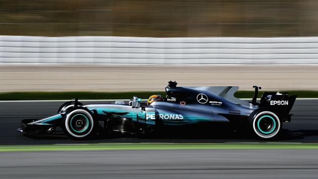 It was a positive first day of testing for Lewis Hamilton, who set a quicker pace than he managed through pre-season last year.