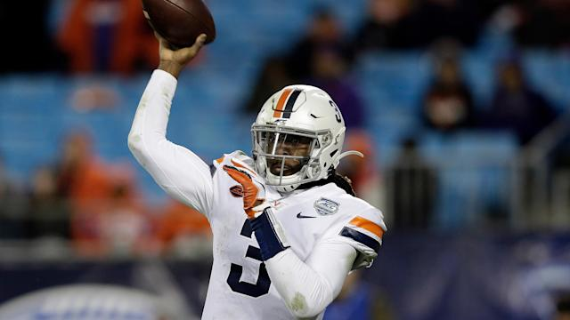 Virginia beat Virginia Tech in 2019 to snap a 15-game losing streak in the Commonwealth Cup. (AP Photo/Gerry Broome)