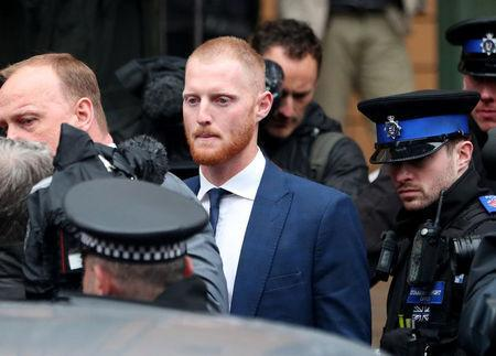 FILE PHOTO - England cricketer Ben Stokes leaves Bristol Magistrates Court in Bristol, Britain, February 13, 2018. REUTERS/Hannah McKay