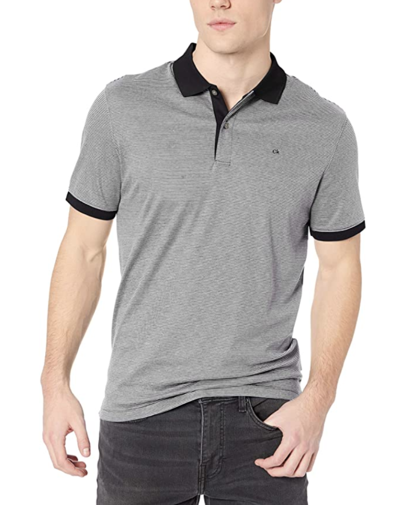 Calvin Klein Mens Liquid Touch Polo Stripe - save up to 30% on Calvin Klein and other apparel ahead of Prime Day 2020.