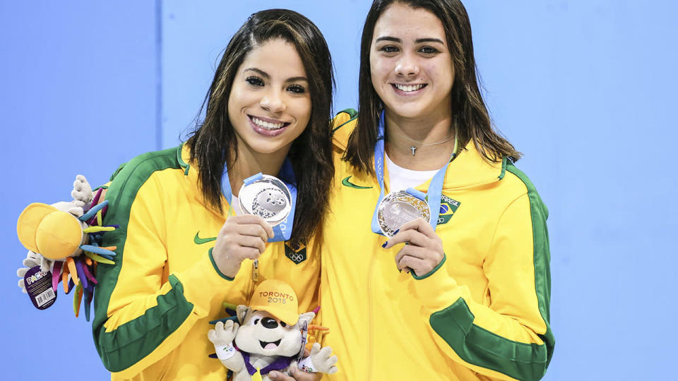 Ingrid Oliveira and Giovanna Pedroso at the Toronto 2015 Pan Am Games. (Photo by William Volcov/Brazil Photo Press/LatinContent/Getty Images)