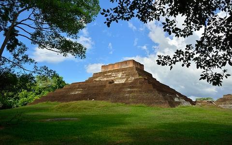 The ancient Mayan archaeological site located a mile or so from Comalcalco - Credit: AP