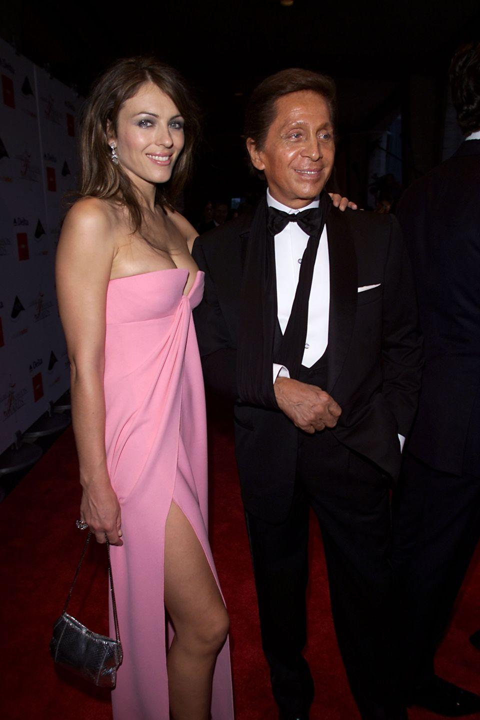 <p>Elizabeth accompanied fashion designer Valentino to the Council of Fashion Designers of America Awards in 2000, at which he was received the Lifetime Achievement Award.</p>