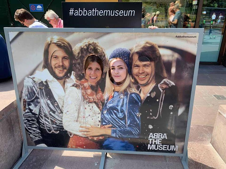Jane and Lucy at the ABBA museum in Stockholm, Sweden(Collect/PA Real Life).