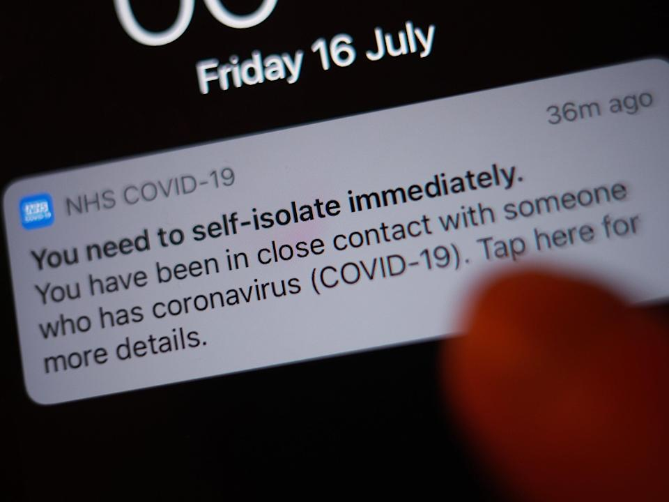 Millions of people are expected to be pinged by the Covid app in weeks ahead (PA)