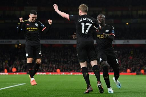 King Kev: Kevin De Bruyne scored twice as Manchester City cruised past Arsenal