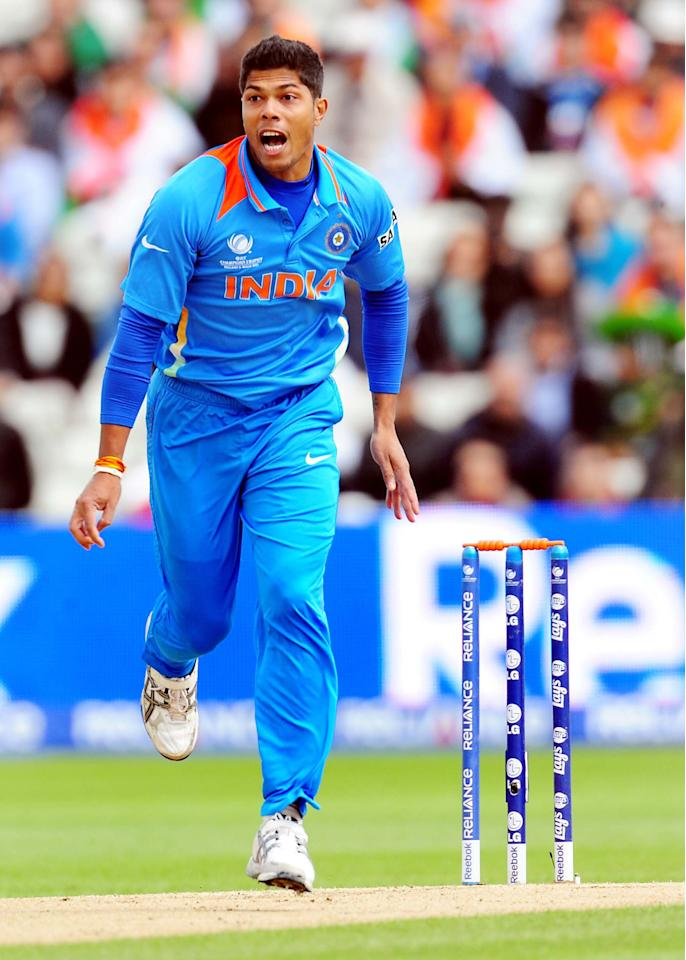 India's Umesh Yadav during the ICC Champions Trophy match at Edgbaston, Birmingham.